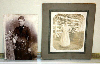 Pair of Vintage Photographs of Women - Early 1900's or Earlier