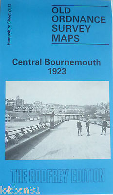 Old Ordnance Survey Maps Central Bournemouth Hampshire 1923 Godfrey Edition