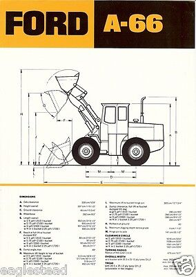 Equipment Brochure - Ford - A-66 - Wheel Loader (EB199)