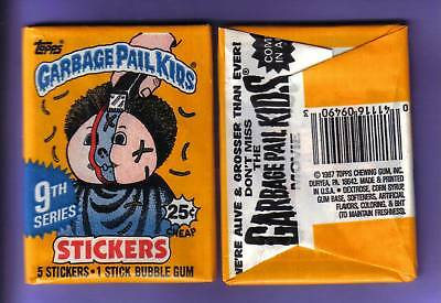 1987 Garbage Pail Kids Original Series 9 Wax Pack (x1) from Box!