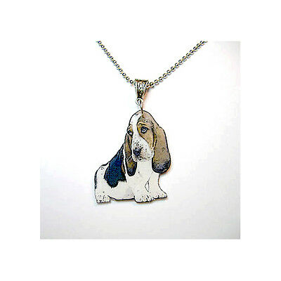 Basset Hound Necklace Handcrafted Plastic Made in USA