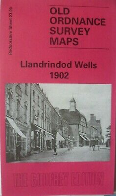 Old Ordnance Survey Map Historic Town of Llandrindod Wells 1902 Godfrey Edition