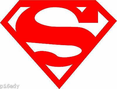 2 x SUPERMAN Snowboard Decal Sticker Graphic *Colour Choice*