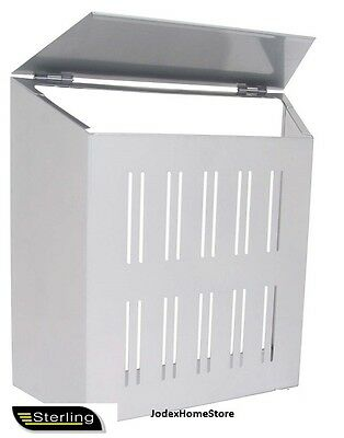 Sterling High Quality Silver Finish Steel Door Letter box Cage Mail Post Catcher