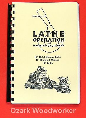 "Atlas Craftsman Manual of Lathe Operation Book for 10"" and 6"" 0032"