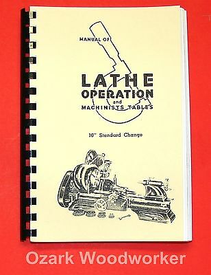 "Atlas Craftsman Manual of Lathe Operation Book for 10"" Standard 0033"