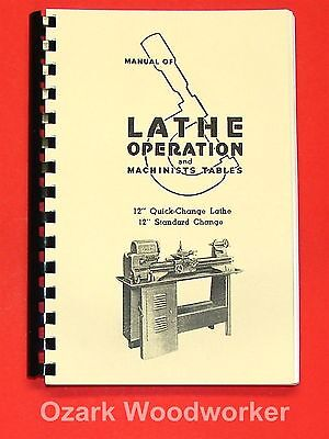 """Atlas Craftsman Manual of Lathe Operation Book for 12"""" Crossfeed Lever 0035"""