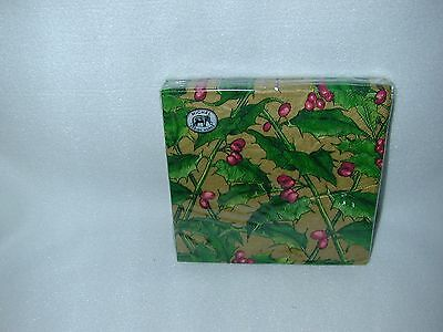 Michel Design Works''holly'' 20 Paper Luncheon Napkins-New