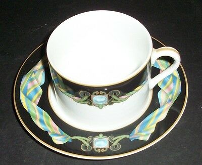 Fitz & Floyd Ruban Cup and Saucer (s)