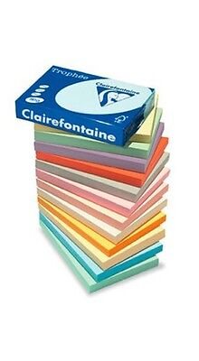 A4 QUALITY 80gsm CLAIREFONTAINE LIGHT & PASTEL COLOUR PAPER CRAFT PRINTER COPIER