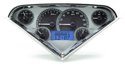 1955-59 Chevy Pickup VHX Instruments (Silver Alloy Blue)