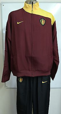 Belgium Claret And Black Tracksuit By Nike Adults Size Large Brand New