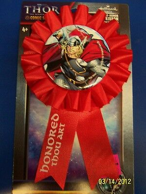Thor The Mighty Avenger Movie Marvel Birthday Party Favor Guest of Honor Ribbon
