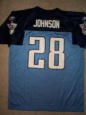 2011-2012 REEBOK Tennessee Titans CHRIS JOHNSON nfl Jersey YOUTH KIDS BOYS (5-6)