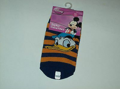 Childrens Orange And Blue Striped Donald Duck Size 4-6 Socks