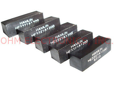 Lot of 5 - Hamlin HE3321A1200 - SPST-NO 12VDC 500mA 4 Pin Reed Relay