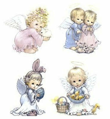 Easter Angel Bunny Egg Select-A-Size Waterslide Ceramic Decals Hx