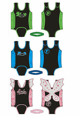TWF Baby Tots Kids Boy Girl Childrens Neoprene Wetsuit Swimsuit Swimwear Wrap Vest for Swimming Beach Pool Holiday 0-12 Months