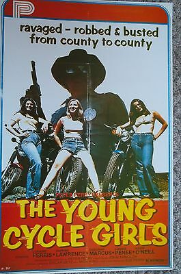 """""""The Young Cycle Girls"""" Movie  Poster Print"""