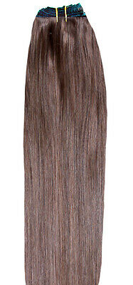DOUBLE WEFT Light Brown Human Hair Extension Full Head #6