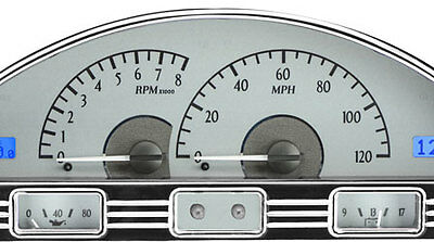 1956 Ford Pickup VHX Instruments (Silver Alloy Red)