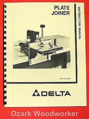 DELTA Plate Joiner 32-100 Operator & Parts Manual 0218