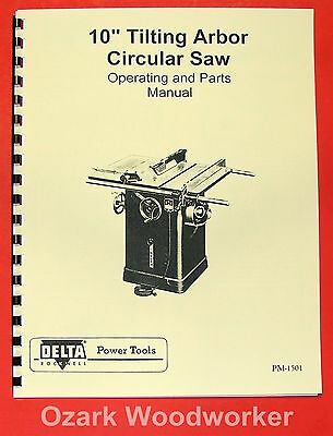 Rockwell 34 440 10 Quot Contractor S Saw Parts Manual 0603