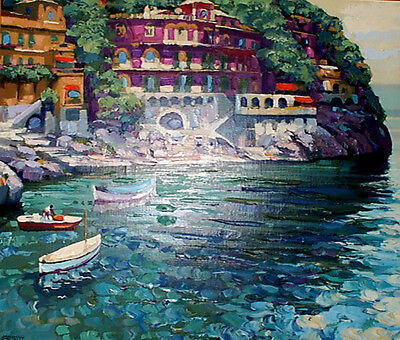 Villa by Howard Behrens - Hand Signed and Numbered Limited Edition Silkscreen