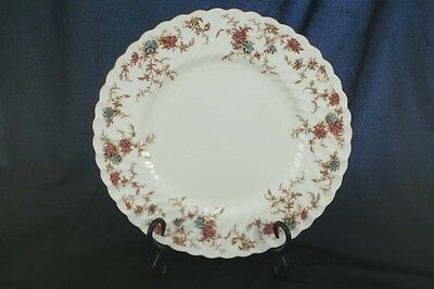 Minton Ancestral Salad Plate Globe Backstamp with Gold Trim