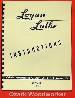 "LOGAN 12"" Lathe+Turret/Screw  #2500 Instruction Manual 0452"