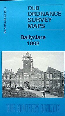 Old Ordnance Survey Map Ballyclare near Belfast Northern Ireland 1902 S45.15 New