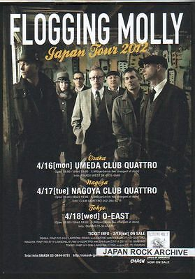 2012 Flogging Molly JAPAN Tour Concert Flyer mini poster / Japanese