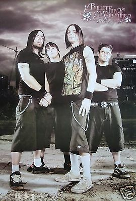 """Bullet For My Valentine """"group Standing Beneath Stormy Skies"""" Poster From Asia"""
