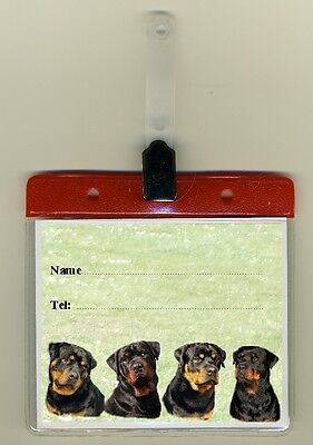 Rottweiler Dog Cage Identity Badge for Dog Show Crates/Cages by Starprint