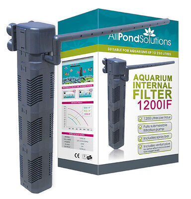 1200L/H Aquarium Internal Fish Tank Submersible Filter All Pond Solutions 1200IF