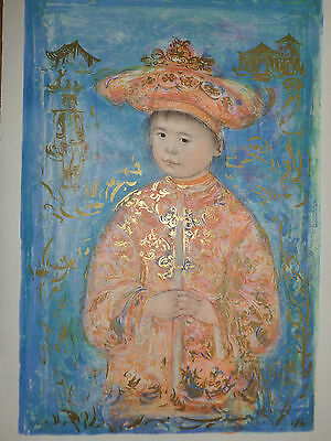 Little Emperor- Edna Hibel - Hand Signed And Numbered Lithograph