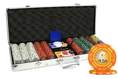 500 14G LAS VEGAS CASINO CLAY POKER CHIPS SET Y9 NEW
