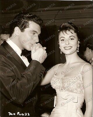 1959 THE HEART OF A MAN Frankie VAUGHAN Anne HEYWOOD First day's shooting *Photo