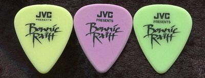 BONNIE RAITT early 1990's Concert Tour Guitar Pick SET!!! 3 custom stage Picks