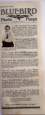 1916 original vintage Ad Bluebird Photo-Plays moving pictures Movies
