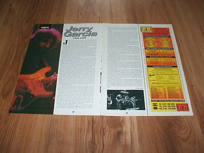Jerry Garcia(Grateful Dead)-1995 magazine article