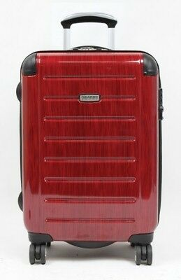 "RICARDO ROXBURY BLACK CHERRY LUGGAGE   21"" Expandable Spinner Hardshell Carry On"