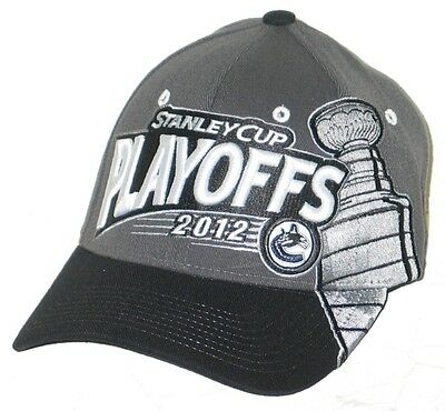 943cf674679 Vancouver Canucks Nhl Hockey 2012 Playoffs Flex Fit Fitted Hat cap M l New