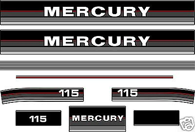 MERCURY 115 DECALS 1986-1988, 90 hp available