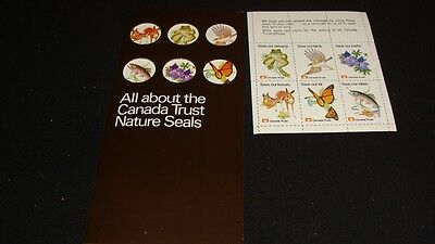 Canada Trust Early 1970 Nature Seals Save our Environment Complete Set & booklet