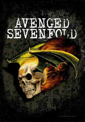 "AVENGED SEVENFOLD ""FLYING DEATHBAT"" Fabric Poster Oversized 30""X40"" Poster NEW"