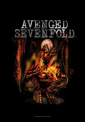 "AVENGED SEVENFOLD ""FIRE BAT"" Fabric Poster Oversized 30""X40"" Poster Flag NEW"