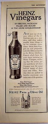 1916 vintage food Ad Heinz Pure Malt Vinegar