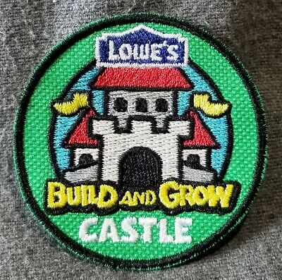 LMH PATCH Badge 2012 CASTLE  Build Grow  LOWES Kids Clinic Medieval Castles Flag