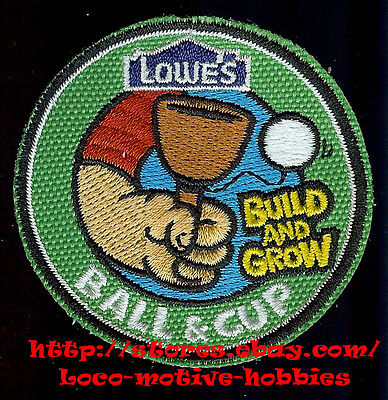 LMH PATCH Badge 2010 BALL & CUP Toss Build Grow LOWES Kids Project Clinic String